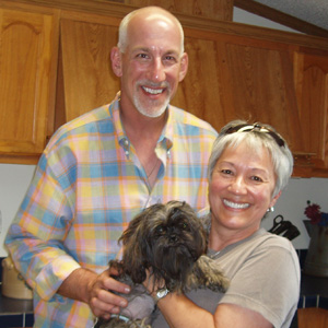 Sophi,Dad Jim and Mom Nita