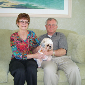 Ozzie with Mom Becky and Dad Roger