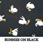 Bunnies on Black