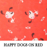 Happy Dogs on Red