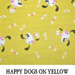 Happy Dogs on Yellow