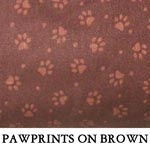 Pawprints on Brown..ONE S