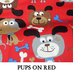 Pups on Red