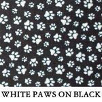 Reversible White Paws on Black..ONE S