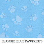 Reversible Flannel Blue Pawprints..TWO M