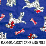 Flannel Candy Cane and Pups