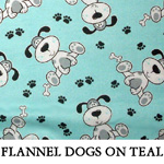 Flannel Dogs On Teal