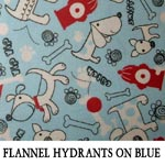 Flannel Hydrants on Blue