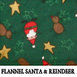 Flannel Santa & Reindeer..ONE XL