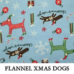 Flannel Xmas Dogs