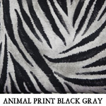 Animal Print Black Gray