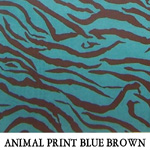Animal Print Blue Brown