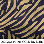 Animal Print Gold Dark Blue