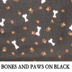 Bones and Paws on Black