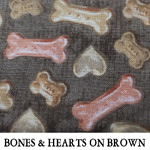 Bones & Hearts on Brown
