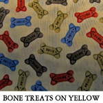 Bone Treats on Yellow