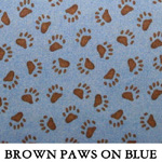 Brown Paws on Blue