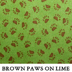 Brown Paws on Lime