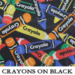 Crayons on Black