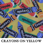 Crayons on Yellow