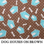 Dog Houses on Brown