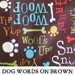 Dog Words on Brown