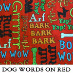 Dog Words on Red