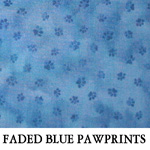 Faded Blue Pawprints