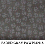 Faded Gray Pawprints