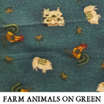 Farm Animals on Green
