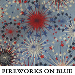Fireworks on Blue