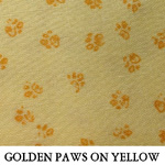 Golden Paws on Yellow