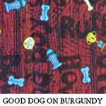Good Dog on Burgundy