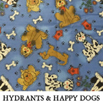 Hydrants & Happy Dogs..ONE XL