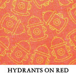 Hydrants on Red