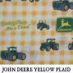 John Deere Yellow Plaid