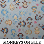 Monkeys on Blue