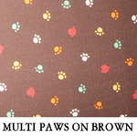 Multi Paws on Brown