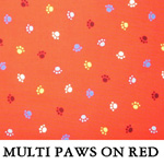 Multi Paws on Red