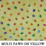 Multi Paws on Yellow