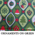 Ornaments on Green