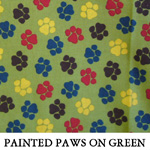 Painted Paws on Green