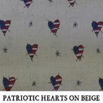 Patriotic Hearts on Beige