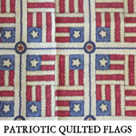 Patriotic Quilted Flags