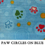 Paw Circles on Blue