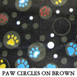 Paw Circles on Brown
