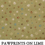 Pawprints on Lime