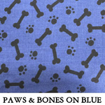 Paws and Bones on Blue