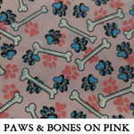Paws and Bones on Pink