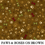 Paws & Bones on Brown